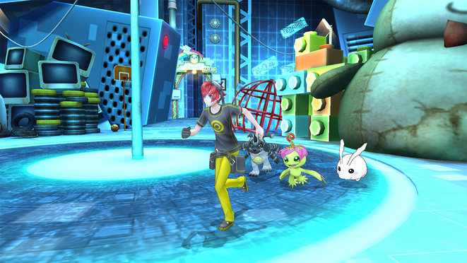 Digimon, Gabumon, Palmon, Tokomon, Digimon Story, Cyber Sleuth, Bandai Namco