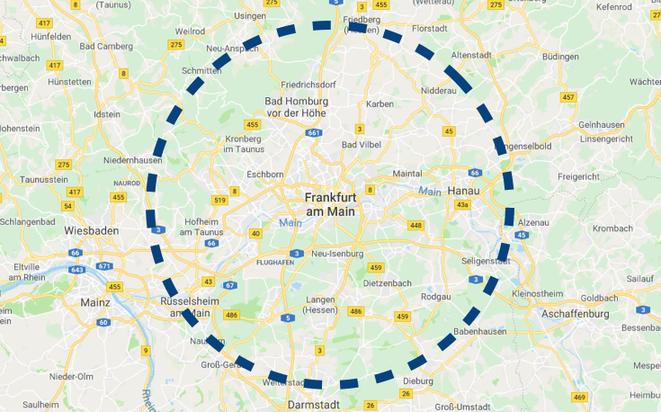 Autoverwertung Frankfurt Abholgebiet