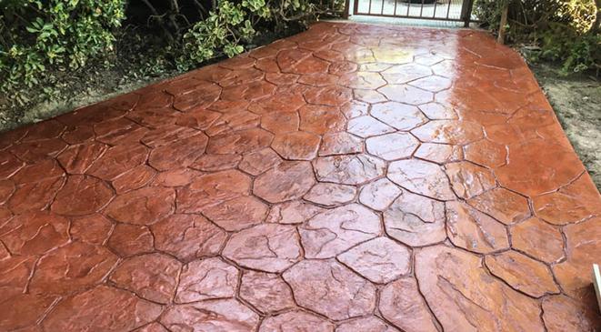 pavimento impreso Villalba