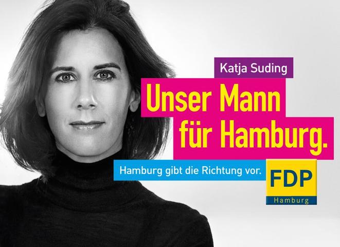 FDP-Plakat Katja Suding | Detektei Berlin | Detektiv Berlin | Wirtschaftsdetektei Berlin