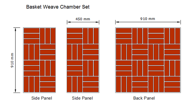 Basket Weave Fireplace Chamber Set