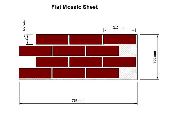 BrickMesh Flat Mosaic Sheet Dimensions
