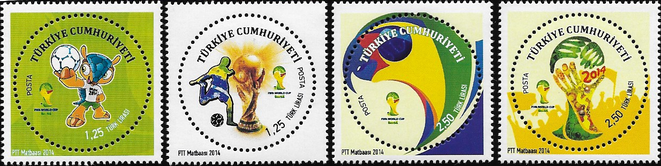 Zurückgezogene Marken Türkei Fussball-WM 2014
