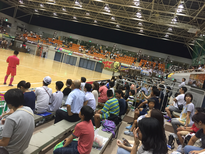 Supporters of Tokyo Fuchu Athletic F.C. Futsal F-League 2016 Tokyo Fuchu city Fuchu municipal gymnasium sport attraction entertainment tourist spot Tama Tourism Promotion - Visit Tama