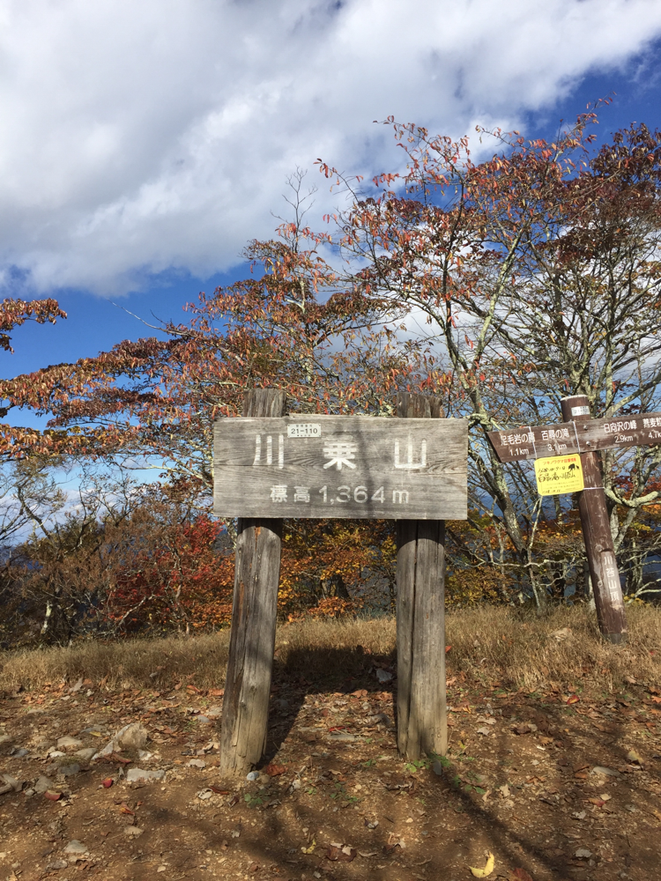 The signboard on the top of Mt. Kawanori Tokyo Okutama hiking trecking healing refresh detente voyage tourist spot Visit Tama Tourism