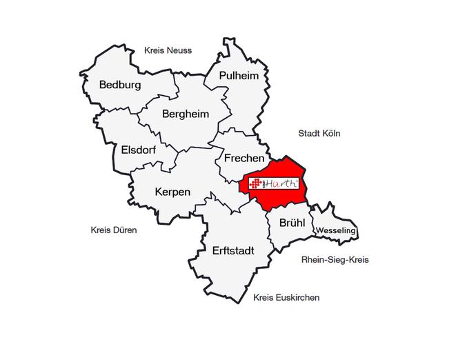 Karte Rhein Erft Kreis
