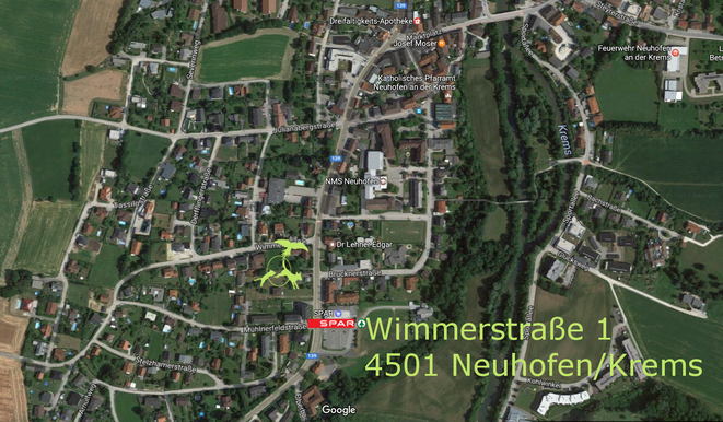 Lageplan Hundeschule Animal Train, Hundetraining, Linz Land, Neuhofen an der Krems