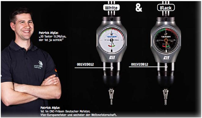 3D Taster Slim Plus V2 für CNC Maschinen, Tschorn, präzisionswerkzeuge, vertrieb österreich Toolart,