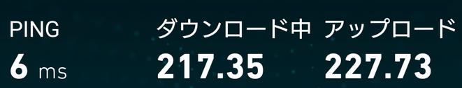 無線LAN 速度測定 1Gbps