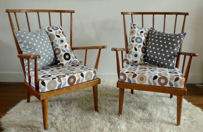 JOLI, Fauteuil vintage, fauteuil Baumann éventail, fauteuil année 60