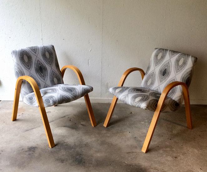 Steiner, fauteuil Steiner, fauteuil vintage, fauteuil Bow wood, fauteuil Steiner vintage