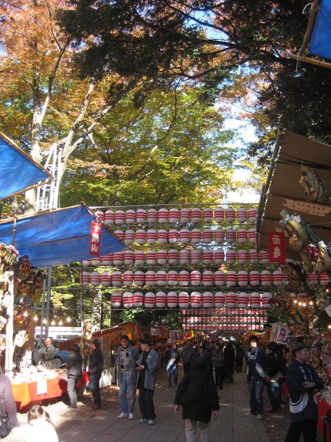 Tori no Ichi Festival at Okunitama Shrine Tokyo Fuchu sightseeing tourist spot TAMA Tourism Promotion - Visita Tama 酉の市 大国魂神社 東京都府中市 お祭り 観光スポット 多摩観光振興会