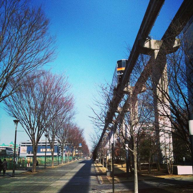 Tama Monorail near Tachikawa-kita station Tokyo Tachikawa transportaion TAMA Tourism Promotion - Visit Tama 多摩モノレール 立川北駅付近 運輸機関 多摩観光振興会