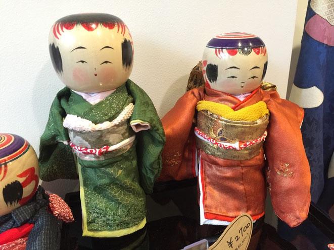 Kimono Kokeshi Dolls as Image Photo 着物をまとったこけし人形 (イメージ画像)