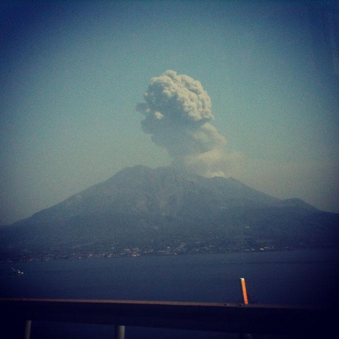 Mt. Sakurajima Kagoshima volcano mountain tourist spot 桜島 鹿児島県 噴火 観光スポット