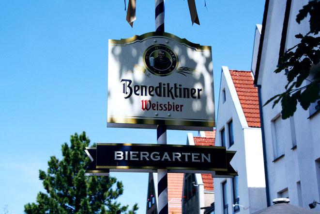 Biergarten vom Restaurant Stadtgespräch