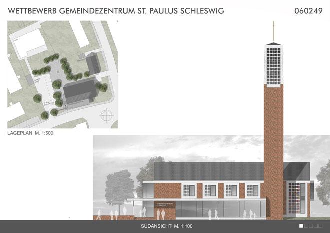 Siegesentwurf vom Archtitekturbüro Johannsen, Fuchs und Dycker aus Husum