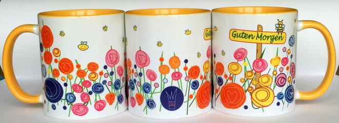 Die neue Designertasse von UKo-Art ist da: Das Design stammt von Ursula Konder. Inspiriert wurde die Künstlerin in diesem Fall durch die vielen Blumenwiesen die rund um den Usinger Ortsteil Wernborn blühen.