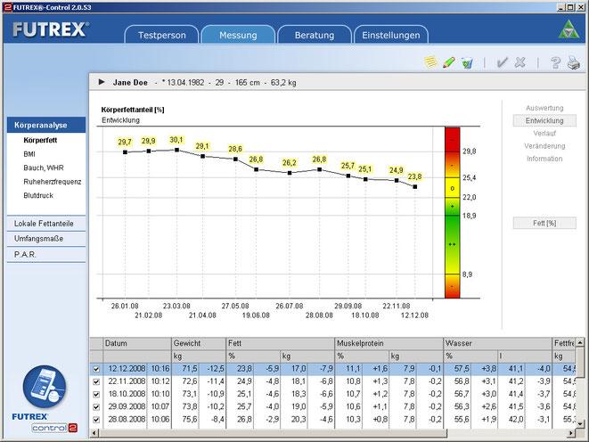 Screenshot Entwicklung