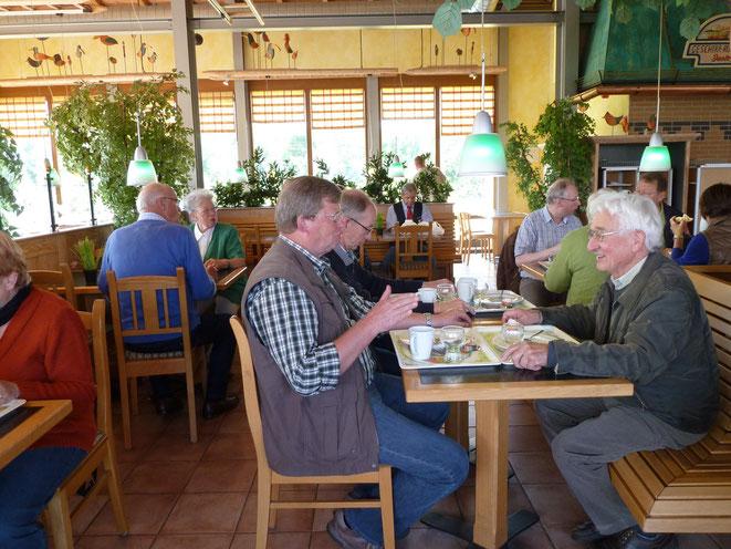 Frühstückspause in der Raststätte Marienborn