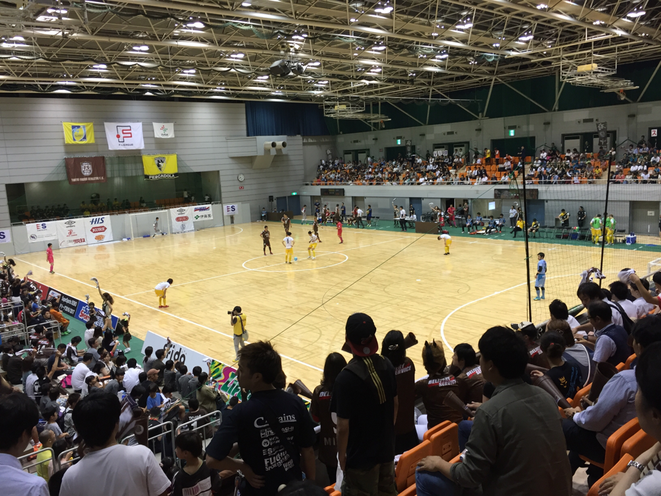 Futsal F-League match Fuchu Athletic F.C. vs Pescadola Machida Tokyo Tama Derby match Fuchu municipal gymnasium sport attraction entertainment tourism event  TAMA Tourism Promotion - Visit Tama