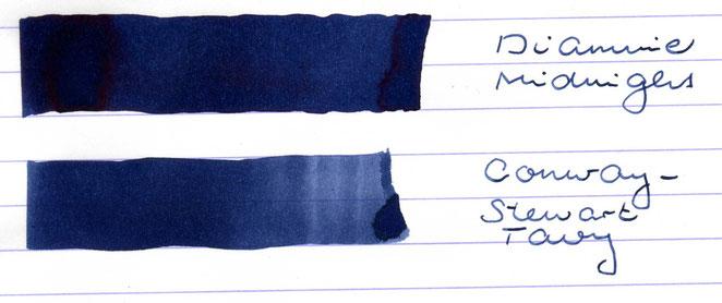 """""""Diamine Midnight"""" wurde auch mit der Tavy geschrieben, nicht mit der Midnight"""