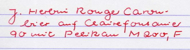Im Vergleich die Rouge Caroubier