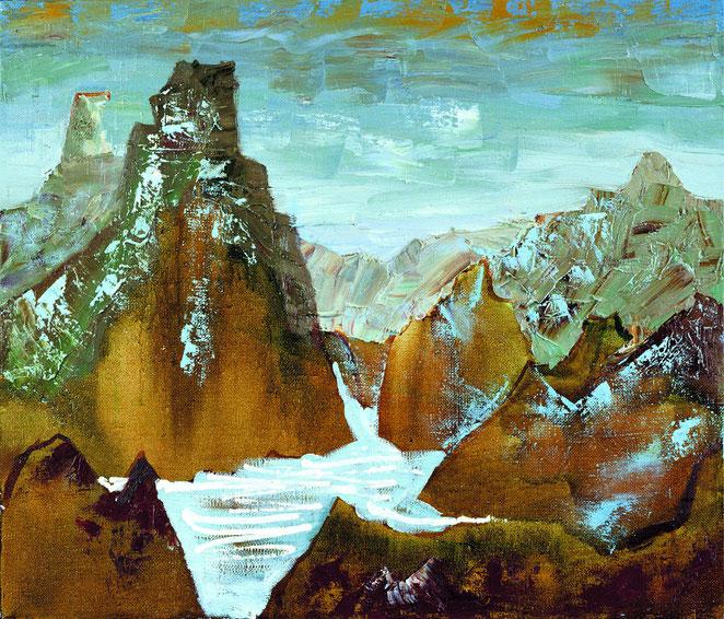 «Горный пейзаж 2», 80х50  холст, масло