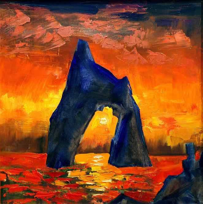 Закат у Золотых ворот, х.м. 50х60 см.