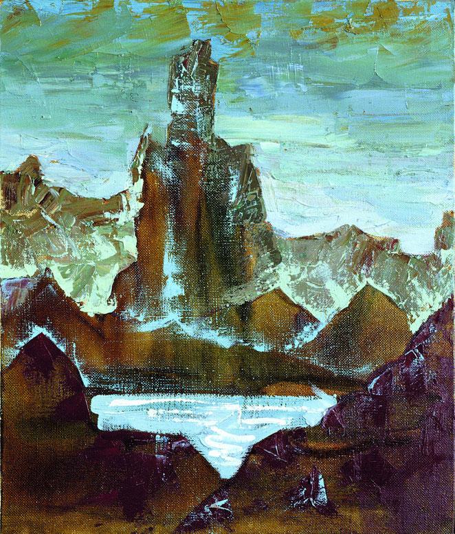 «Горный пейзаж 3», 60х50  холст, масло