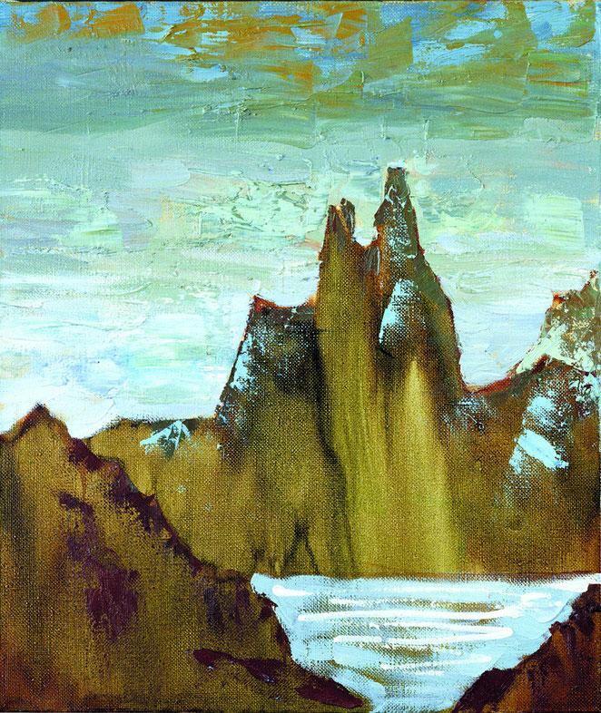«Горный пейзаж 1», 60х50  холст, масло