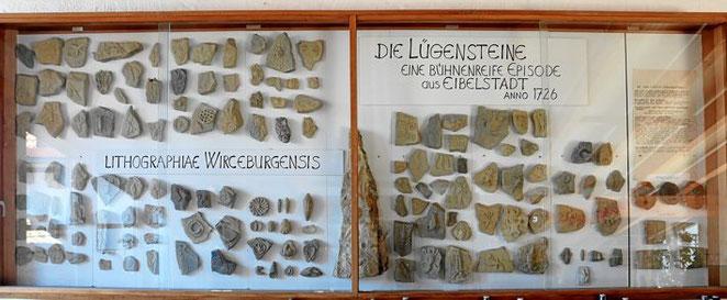 Schauwand Lügensteine von Eibelstadt