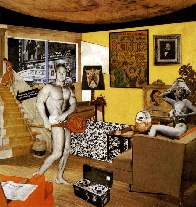 リチャード・ハミルトン《一体何が今日の家庭をこれほどに変え、魅力あるものにしているのか》,1956年