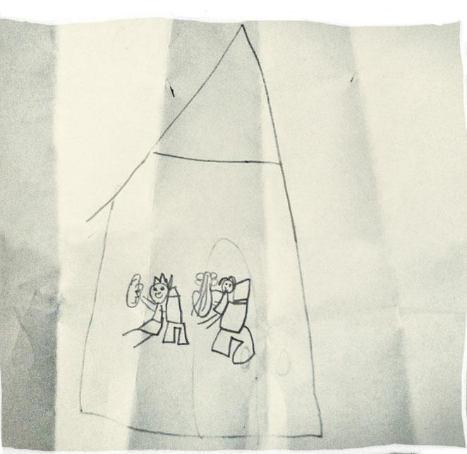 """""""Sara y Emilio"""". Dibujado por Inés (Madrid)"""