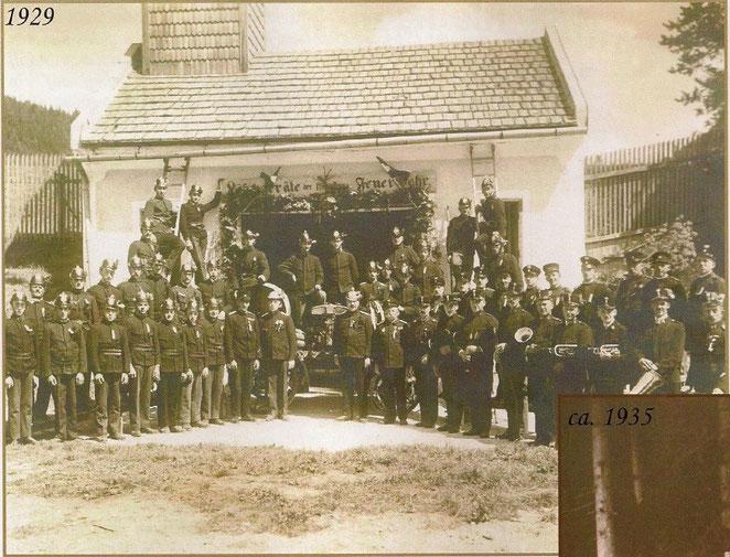 Mannschaftsfotos aus dem Jahr 1929