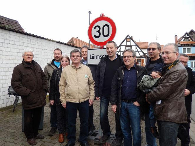 v.l.n.r. Holger Weimer, Bernd Heib, Andrea Häkel, Hans Heinecke, Herbert Veth, Christian Vedder, Günter Ewinger, Karlheinz Jung, Christoph König
