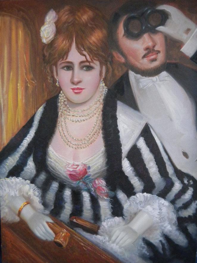 """""""Im Theater"""" - im impressionistischen Stil geschaffen"""