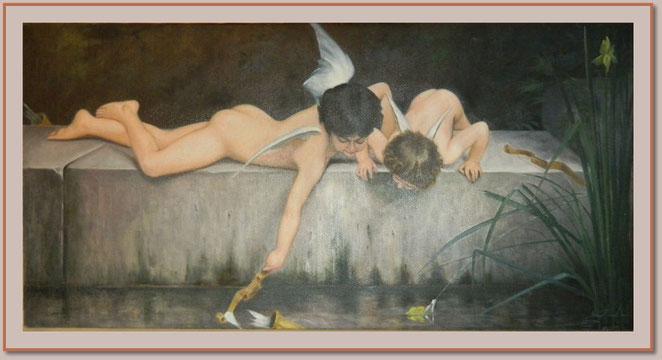 Engel an heiligem Wasser
