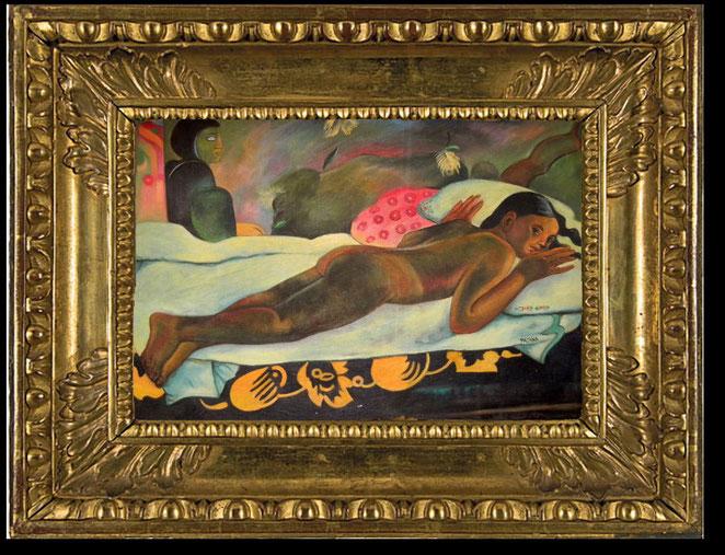 Altes wertvolles Gemälde im Stil von Paul Gauguin von Meister Khem und Patana - ohne Rahmen