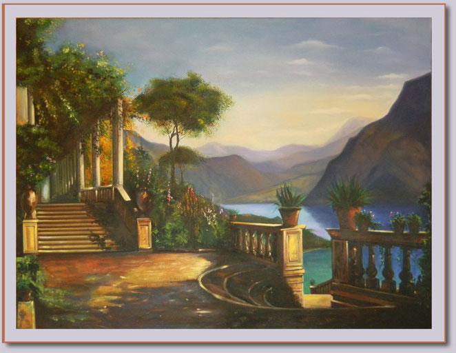 """""""See im Süden"""" - Großformatiges Gemälde - 120 x 90 cm - 420,- €"""