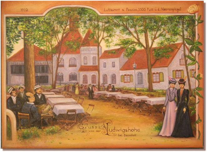 Ludwigshöhe  vor 100 Jahren  nach alter Postkarte