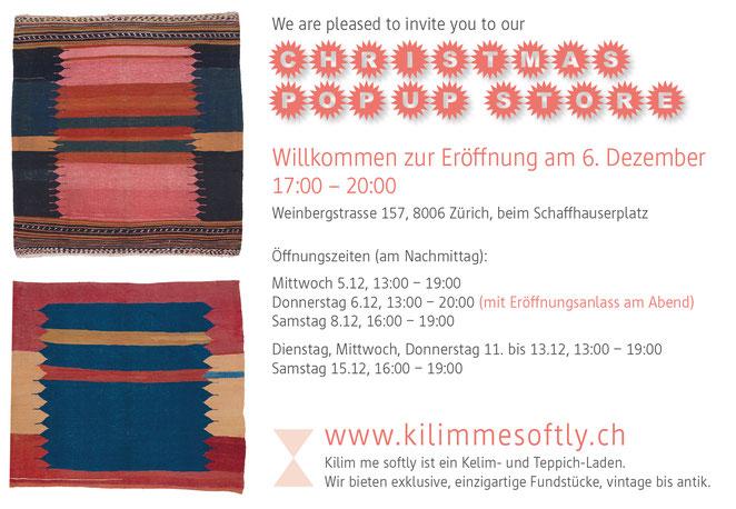 Vernissage Ausstellung Nomaden Kelim, Zurich, Kilimmesoftly