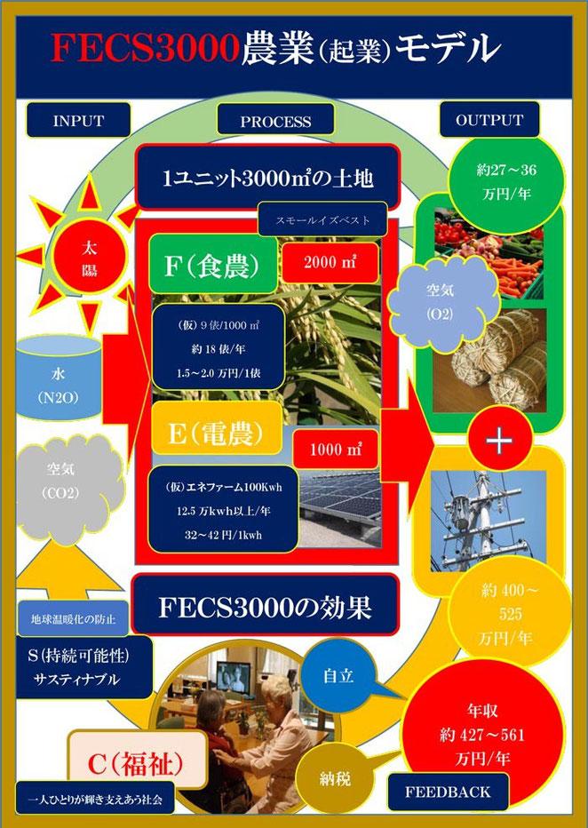 坂口光司の全国地方治自体に送る2014地方創生緊急提言>FECS3000農業(起業)モデル