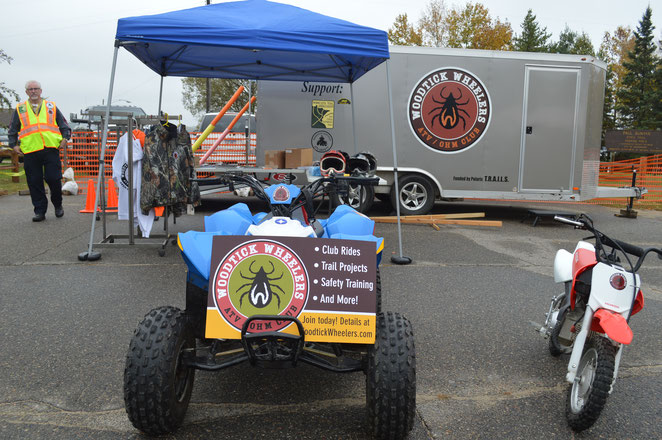 Our club attends many community events, with an ATV Safety Education Trailer filled with helpful information for parents and their kids who ride, and youth vehicles to introduce youths to off-highway vehicle riding.
