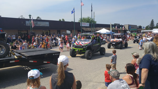 We love a parade...and ride in the Longville July 4th Parade, Hackensack Sweetheart Days Parade, Remer Harvest Festival Parade and others.