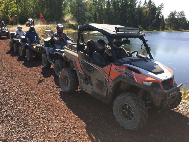 Our club hosts 8-10 fun club rides from May to October, riding locally or trailering to many of the best State ATV trails.