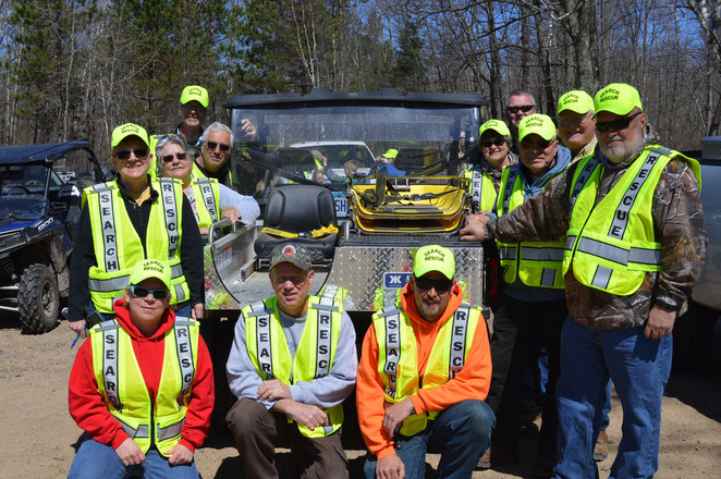 Our Search & Rescue ATV Team is a partnership with the Cass County Sheriff's Dept. The club has donated a rescue insert, cab and tracks to the County for its Polaris Ranger, with funds from the Polaris TRAILS grant program.