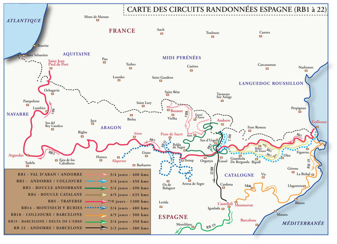 Road Book voyages Espagne RB Vibraction 4x4 tout terrain Andorre Andalousie Barcelone Catalogne
