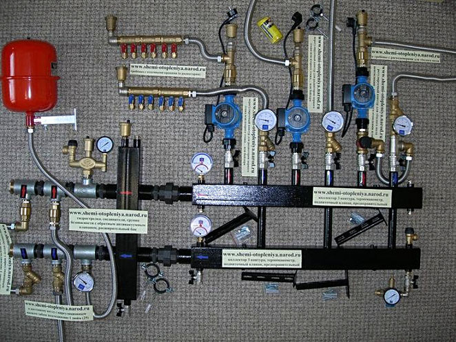 Система отопления в частном доме с двумя котлами