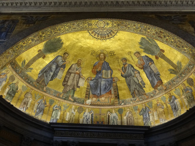 Rom: San Paolo fuori le Mura - Apsismosaik